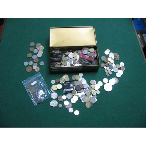 401 - A Collection of G.B and Overseas Coins, to include Canada 25 cents 1968, Australia sixpence 1944, Sc...