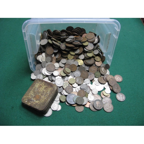 403 - A Quantity of Great Britain Pre-Decimal Base Metal Coins, assorted denominations.