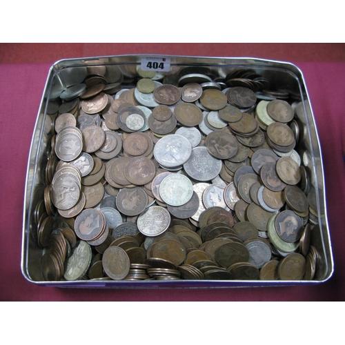 404 - A Collection of G.B Pre-Decimal Base Metal Coins, assorted denominations, plus a quantity of G.B com...