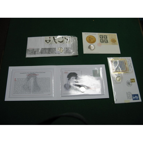 405 - Four Philatelic/Numismatic Covers, to include Benham First Day of The New Fifty pence Coin - 28th Fe...