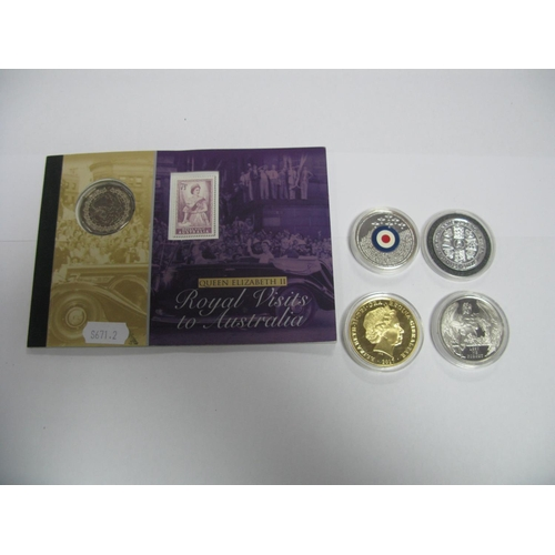 441 - A Collection of Five Coins, to include Gibraltar half crown 2016, Gibraltar one crown 2017, Australi...