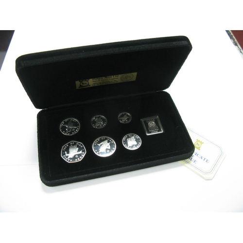 476 - Pobjoy Mint Isle of Man Silver Proof Coin Set 1979, (7 coins), accompanied by literature, cased....