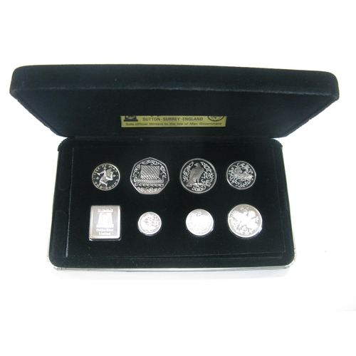 485 - A Pobjoy Mint Isle of Man Silver Proof Coin Set 1980, accompanied by literature, cased....