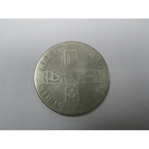 501 - A William III Crown 169? (date rubbed), polished, (28.9g)....