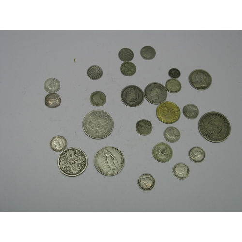 524 - A Collection of Great Britain Silver Coins, to include Queen Victoria One Florin MDCCCLXXIII, Willia...