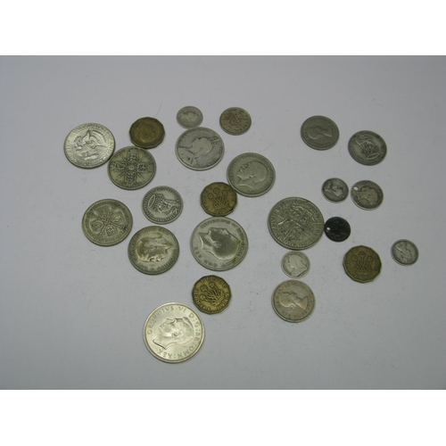 534 - A Collection of G.B Pre 1947 Silver Coins, including halfcrowns, florins, shillings, U.S half dollar...