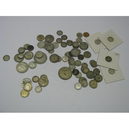 539 - A Collection of Predominantly G.B Pre-Decimal Silver Coins, to include Queen Victoria 2d 1838, Willi...