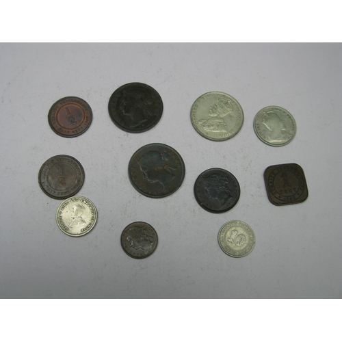 540 - A Collection of Eleven Straits Settlements Coins, to include George V Fifty Cents 1920, Queen Victor...