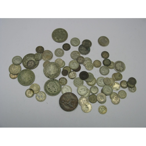 545 - A Collection of Mainly Great Britain Pre-Decimal Silver Coins, including Queen Victoria sixpence 188...