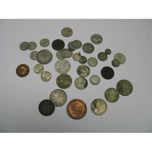 561 - A Collection of Coins, to include Nova Scotia one penny token 1840, Nova Scotia one cent 1864, Hong ...