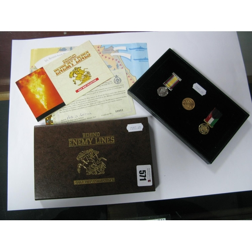 571 - The Royal Mint 'Behind Enemy Lines' Gulf War Collection - Operation Granby Set, comprising of Queen ...