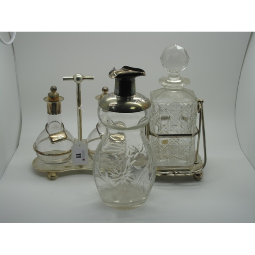 11 - A Hallmarked Silver Mounted Glass Decanter, Sheffield 1904,