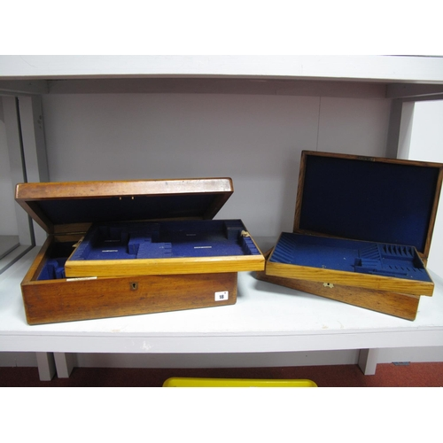 18 - A J.W Benson Ltd Jewellers & Silversmiths 62 and 64 Ludgate Hill London Oak Canteen Case, the hinged...