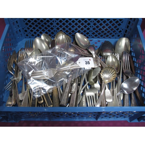 36 - A Set of Three Hallmarked Silver Old English Pattern Table Forks, Sheffield 1893, 20cm long (total w...