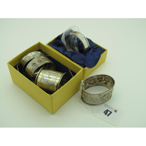 47 - A Carrs of Sheffield Millennium Hallmarked Silver Napkin Ring, (Sheffield 2000), bearing feature hal...