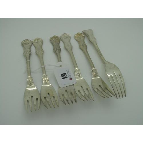 51 - A Set of Six Hallberg Swedish Forks, stamped