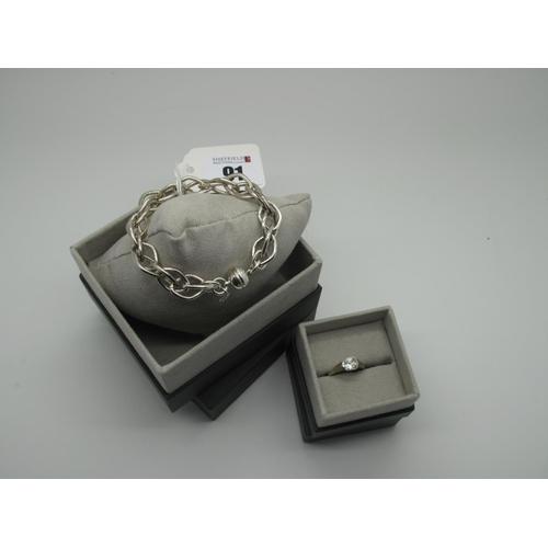 91 - Laurel; A Modern Bracelet, stamped