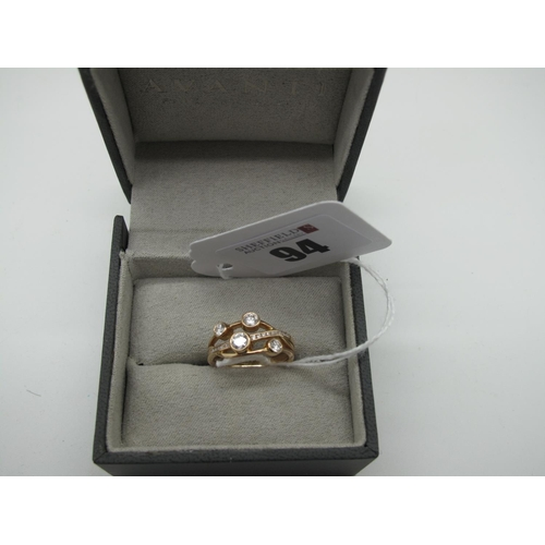 94 - Avanti (Ashbourne, Derbyshire); A Modern 18ct Rose Gold 'Cascata Diamond Bubble' Ring, of abstract d...