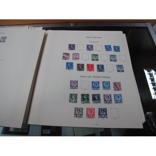 315 - A Mainly Used Collection of G.B Stamps from 1840 Penny Black (2) to 1970's, includes imperf Penny Re...