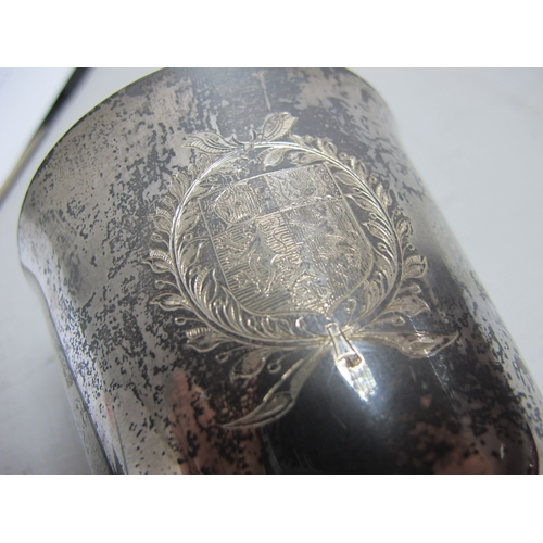 39 - Pembroke College Oxford; A Large Hallmarked Silver Goblet, Payne & Son, London 1973, bearing feature...