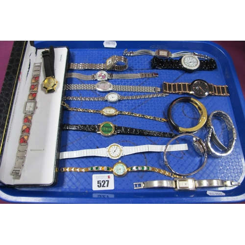 527 - Gems TV and Other Ladies Wristwatches :- One Tray...