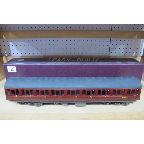 19 - An 'O' Gauge/7mm Midland Region Easy Build Eight Wheel Coach with Interior Detail, boxed.