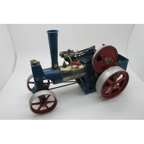2 - A Wilesco Live Steam Traction Engine, appears complete, including burner, has been steamed, unboxed.