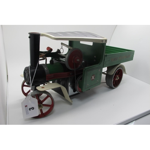 3 - A Mamo SWI Steam Wagon, green finish with black roof, appears complete, including burner, appears to...