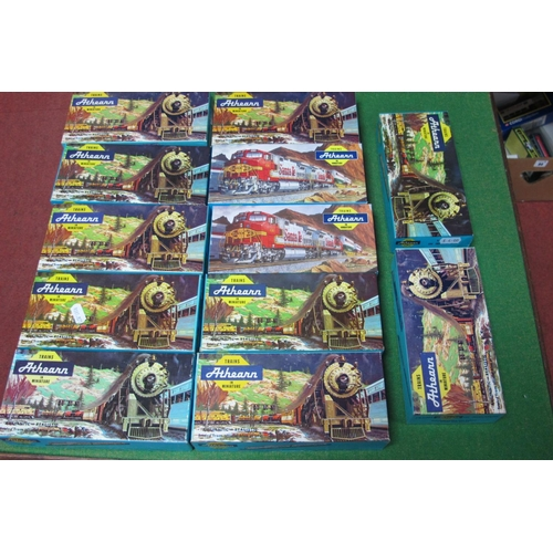 38 - Twelve 'HO' Scale American Outline Eight Wheel Freight Cars, by Athearn, all made up, boxed, playwor...