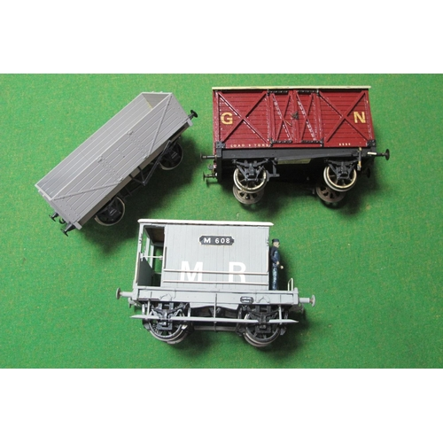 39 - Three Scratch Built Gauge 1 Wagons, including a Midland Railway Guards Van