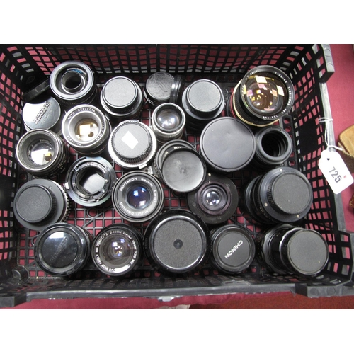725 - Carl Zeiss F=35mm Lens, Chinon, Cimko MT series, Pentacon, Tamron, Hamimar automatic and many more