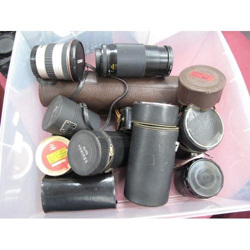 727 - Paragon F=500mm Cases Marco Focusing 200m 58mm, Hanimex tel-lens, quantity filter, many more etc.