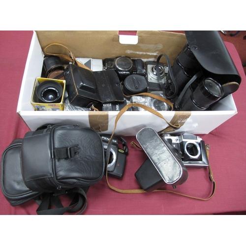 728 - Super Zenith 10  50 Fields Binoculars, Ilford camera, Zenit camera body, Minramd flash, Minolta, Pol...
