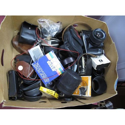 730 - Zenit EM Camera + 28mm Lens, camera body, light meters, etc.