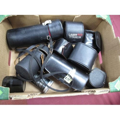 731 - Canon AF Telephoto Converter, Anastigmat 8.5cm lens, Phago auto 3X converter, laser red super wide l...