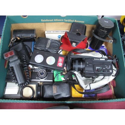 739 - Camera Cleaning Kits, picture paper filters, Olympus camera AM100, Olympus Trip 35, Sanko EM-30XI vi...