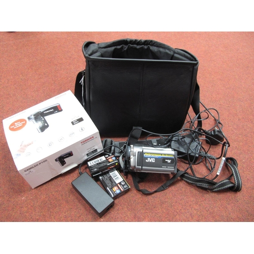 749 - JVC 800 x Digital Zoom Camcorder, with charger and spare tapes, all in a Minolta carry case, plus To...