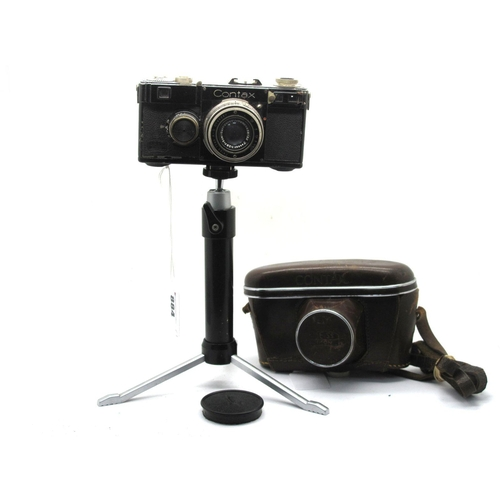 884 - Contax I Type F Camera, Zeiss Ikon body with Tessar 1:2.8 f=5cm lens No 438102, on swivel and ball f...
