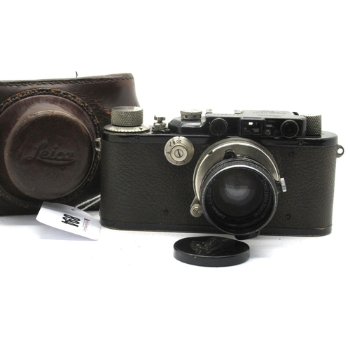 894 - Leica III Camera No 113311 1934, with Summar f-5cm lens No 192397, in brown leather case.
