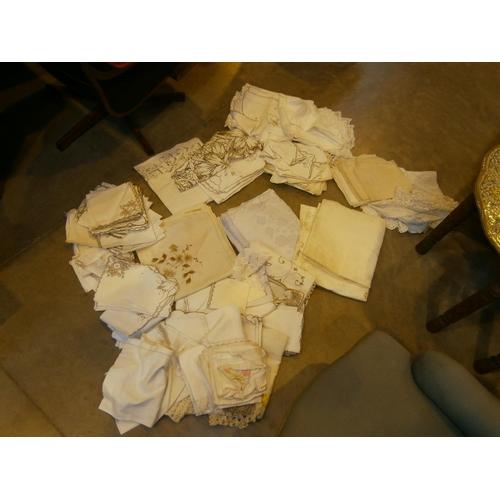 Box of Vintage Linen