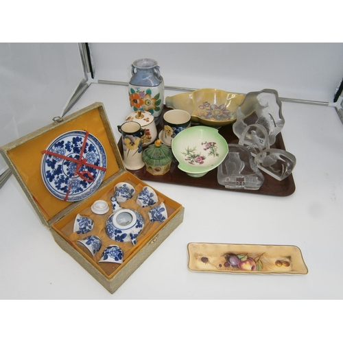 Royal Doulton, Royal Winton, Aynsley and Other Ceramics and Glass and Miniature Chinese Tea Set