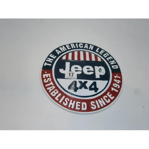 Aluminium Jeep Plaque