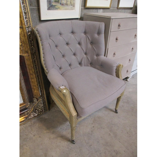 Shabby Chic Deep Buttoned Lounge Chair