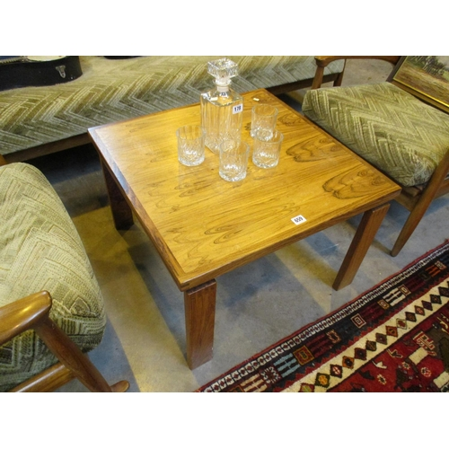 Trioh Denmark Rosewood Coffee Table, 65cm square