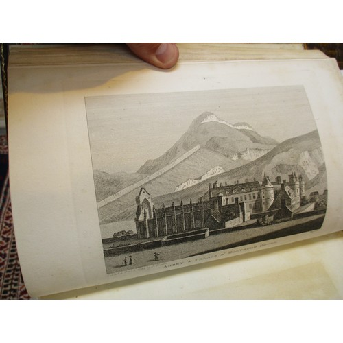9 - Two Leather Books - The Antiquities of Scotland, 1789 and 1791