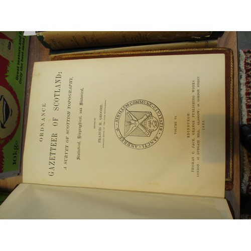 10 - Six Books - Ordnance Gazetteer Scotland 1882-1885