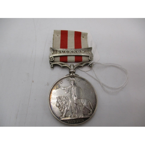 India 1857-58 Medal with Lucknow Clasp to Jas. Jamieson 79th Highlanders