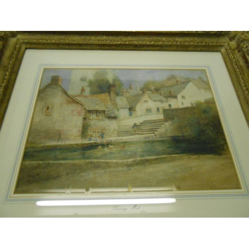 3 - A watercolour - Swanage Mill, mounted, framed and glazed - 9 1/2in. x 12 1/2in....