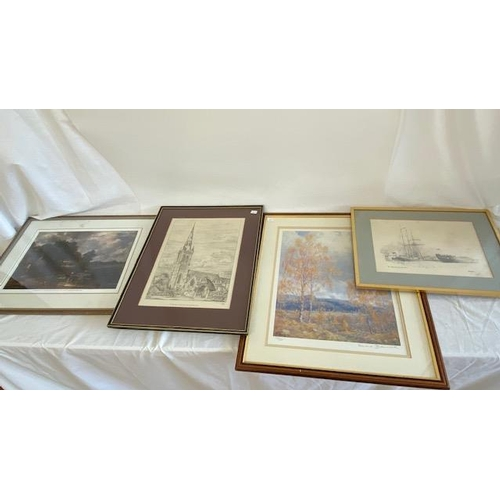 30 - A quantity of prints various including landscapes, river scenes, figures etc.....