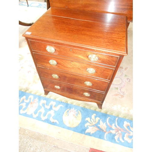 51 - A Georgian mahogany commode with four dummy drawer fronts, on splayed legs - 25in. wide...